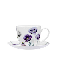 Ashdene Purple Poppies Cup & Saucer