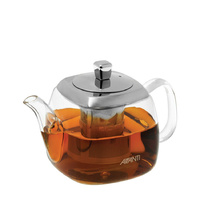Avanti Quadrate Square Glass Teapot