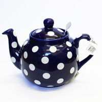 London Pottery Teapot - Red, Blue, Black