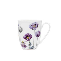 Ashdene Purple Poppies Coupe Mug