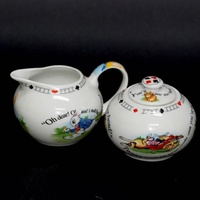 Alice in Wonderland Sugar & Creamer