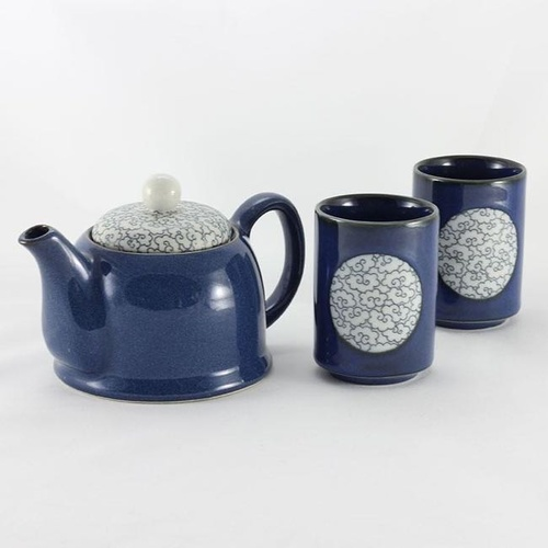 Tea Set Blue Clouds 2 cups