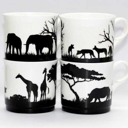 African Safari set of 4 Mugs